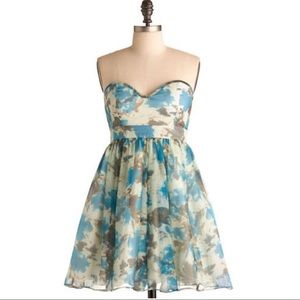 ModCloth Flowers in the Fountain Dress